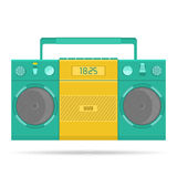 Retro tape recorder for audio cassettes Royalty Free Stock Photo