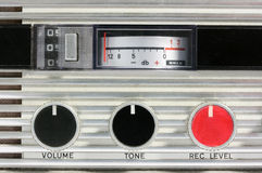 Retro Tape recorder controls Macro Royalty Free Stock Photos