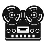 Retro tape recorder icon, simple style Stock Photo