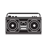 Retro Tape Recorder Stock Photography
