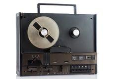 Retro tape recorder on white background Royalty Free Stock Photo