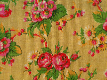 Retro tapestry with roses stock photography