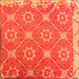 Retro tapestry textile pattern with handmade floral ornament and Stock Image