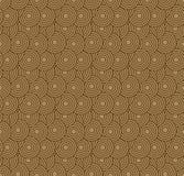 retro tapeta Abstrakcjonistyczny bezszwowy geometryczny wzór z okręgami na brązie Obraz Royalty Free