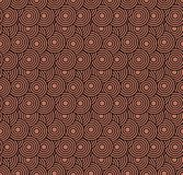 Retro- Tapete Abstraktes nahtloses geometrisches Muster mit Kreisen auf Rot lizenzfreies stockfoto