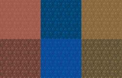 Retro- Tapetensatz Abstraktes nahtloses geometrisches Muster mit Kreisen lizenzfreie stockfotografie