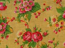 Retro tapijtwerk met rozen stock fotografie