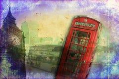 Retro tappning för illustration för London konstdesign Arkivfoto