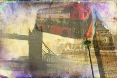 Retro tappning för illustration för London konstdesign Arkivfoton