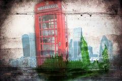 Retro tappning för illustration för London konstdesign Royaltyfria Bilder