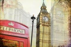 Retro tappning för illustration för London konstdesign Fotografering för Bildbyråer