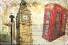 Retro tappning för illustration för London konstdesign Royaltyfri Fotografi