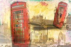 Retro tappning för illustration för London konstdesign Royaltyfri Foto