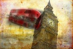 Retro tappning för illustration för London konstdesign Royaltyfri Bild