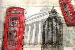 Retro tappning för illustration för London konstdesign Arkivbild