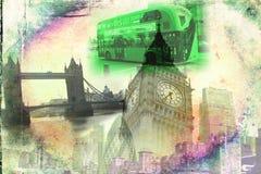 Retro tappning för illustration för London konstdesign Arkivbilder