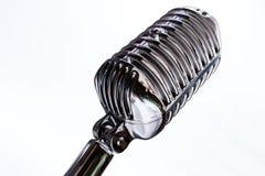 retro tappning för mic-mikrofon Arkivbild