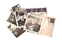 retro tappning för militära foto Royaltyfri Bild