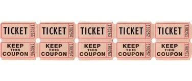 Retro tappningbiljetter och kuponger Arkivbilder
