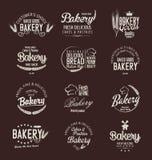 Retro tappningemblem och etiketter för bageri Royaltyfri Bild