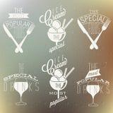 Retro tappningstilfoods och designer. royaltyfri illustrationer