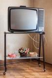 Retro tappningtelevision Arkivfoto
