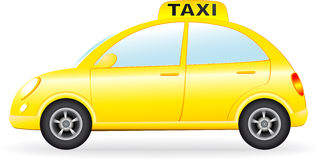 retro taxi car Royalty Free Stock Image