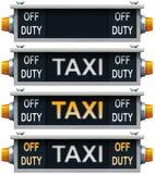 Retro taxi sign. Stock Photos