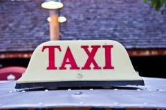 Retro taxi taksówka Zdjęcia Stock