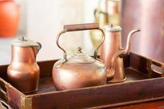 Retro tea-pots Stock Photography