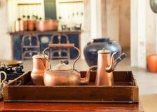 Retro tea-pots Royalty Free Stock Image