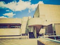 Retro teatro nazionale di sguardo, Londra fotografia stock
