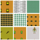 Retro Tech Wallpaper Swatch Set Royalty Free Stock Photography