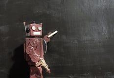 Retro techer rosso del robot fotografie stock libere da diritti
