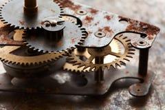 Retro technologia mechanika projekta przedmiot z cog przygotowywa podłączeniowego system Rocznik technologia toczy więzi uczuciow Zdjęcie Stock