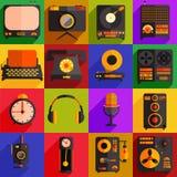 Retro technologii ikony ilustracji