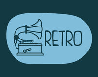 Retro technology design Stock Photography