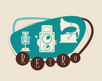 Retro technology design Royalty Free Stock Photography