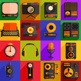 Retro technology icons Royalty Free Stock Images