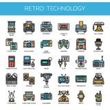 Retro Technology ,   Pixel Perfect Icons Stock Images
