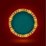 Retro tecken för cirkel Royaltyfri Fotografi