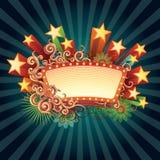 retro teckenstjärna Royaltyfri Bild