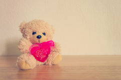 Retro Teddy Bear toy alone Royalty Free Stock Image