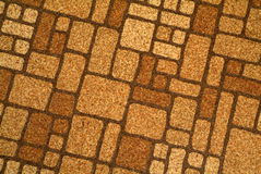 retro tegelplatta för golvlinoleum Royaltyfri Foto