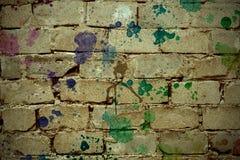 Retro tegelstenbakgrund Royaltyfri Fotografi