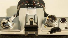 Retro- Teile der alten Kamera, Nahaufnahme Stockfoto