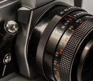 Retro- Teile der alten Kamera, Nahaufnahme Lizenzfreie Stockfotos