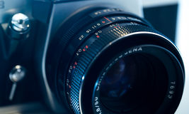 Retro- Teile der alten Kamera, Nahaufnahme Lizenzfreie Stockbilder
