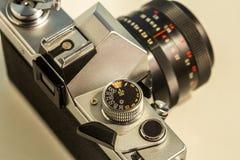 Retro- Teile der alten Kamera, Nahaufnahme Stockfotos