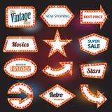 Retro teken van het banner retro motel Royalty-vrije Stock Foto